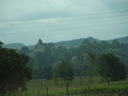 Travelling north towards the Dordogne, France