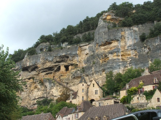 Cliff houses in the Dordogne Valley, France