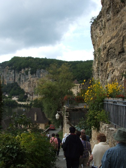 Cliff face in the Dordogne Valley, France
