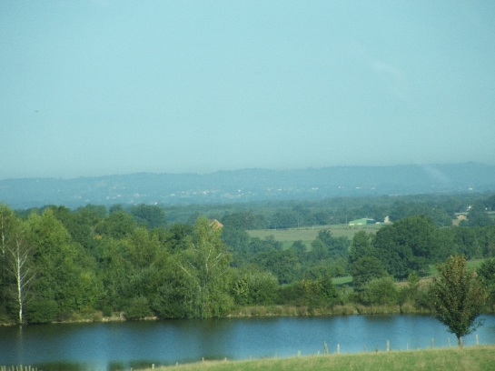 French countryside travelling east to the Loire Valley, France