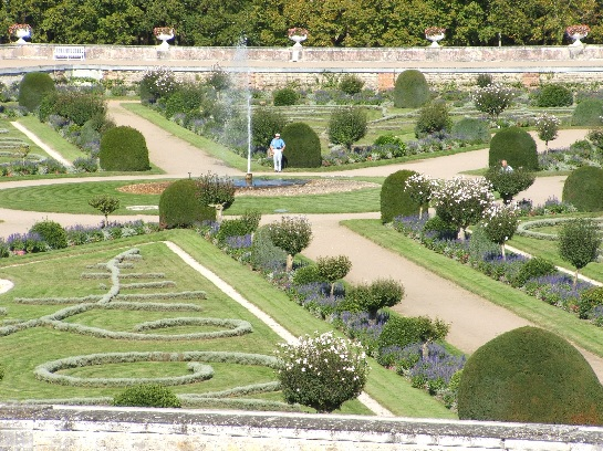 The Gardens of the Palace of Chenonceau in the Loire Valley, France