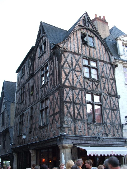 Medieval Building in Tours, France