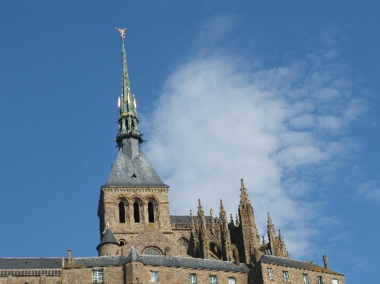 Spire of Mont St. Michel, France