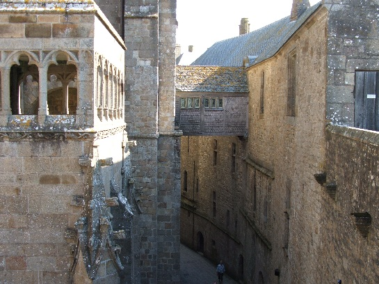Inside Mont St. Michel, France