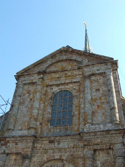 Spire of Mont St. Michel, France