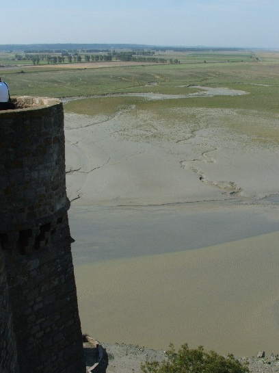 View from Mont St. Michel, France