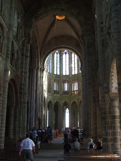 Inside the Chapel of Mont St. Michel, France