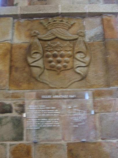 Plaque inside the Chapel of Mont St. Michel, France