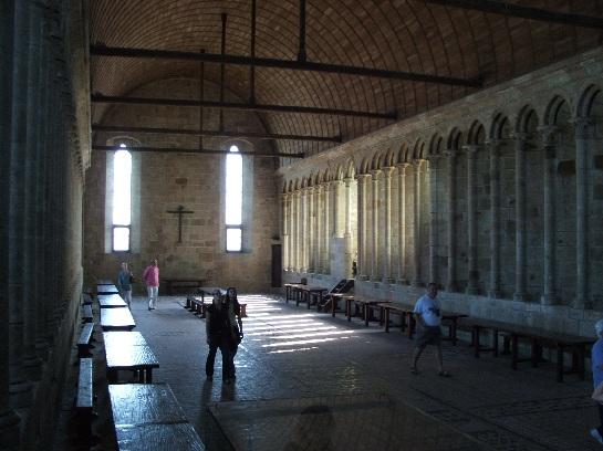 The Chapel inside Mont St. Michel, France