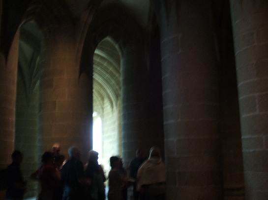 Inside Mont St. Michel, France