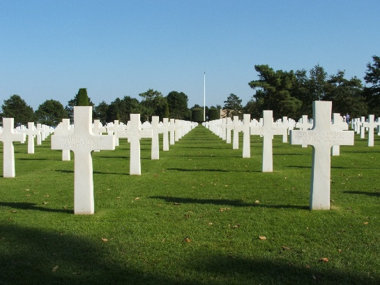War graves of Robert J. Niland and Preston T. Niland (1944) at the war cemetery of allied D-Day forces, Omaha Beach, Normandy, France. The Opening scenes from the film Saving Private Ryan were filmed here.