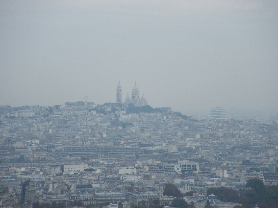 View of Montmartre from the Eiffel Tower, Paris, France