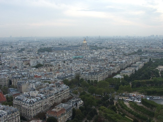 Napoleon's Tomb viewed from the Eiffel Tower, Paris, France