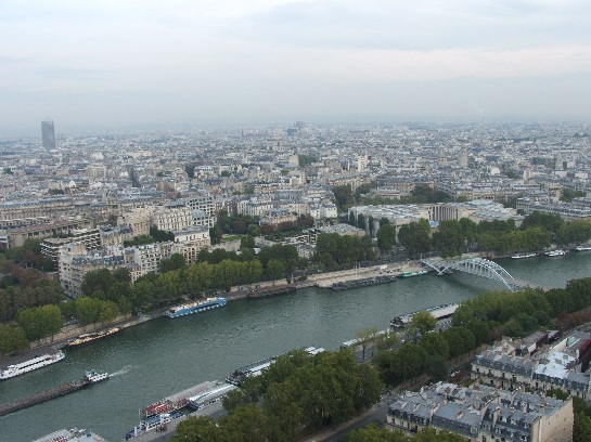 Seine viewed from the Eiffel Tower, Paris, France