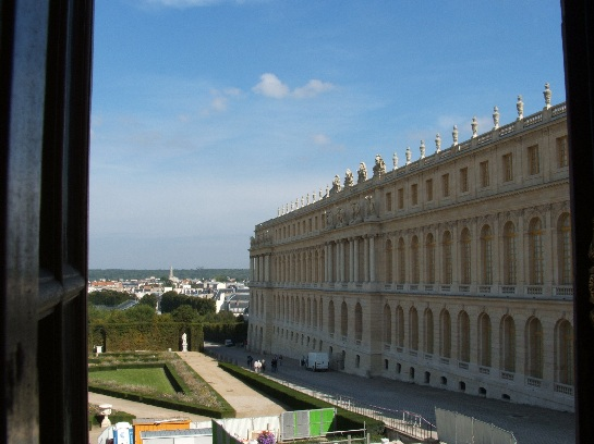 View from Versailles Palace, Paris, France