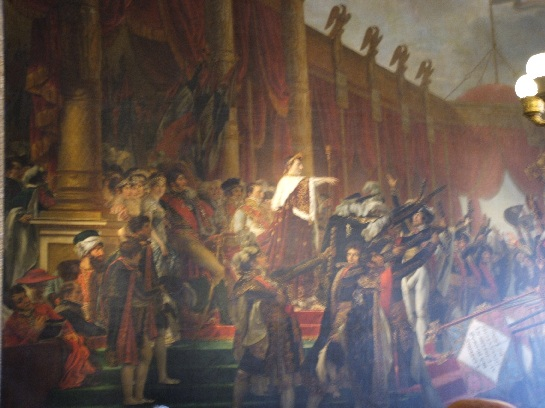 Painting of Napoleon's Coronation at Versailles Palace, Paris, France
