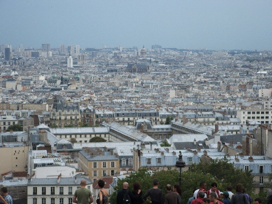 View of Paris from Montmartre, Paris, France