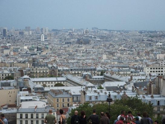 View of Paris from Montmartre, Paris, France