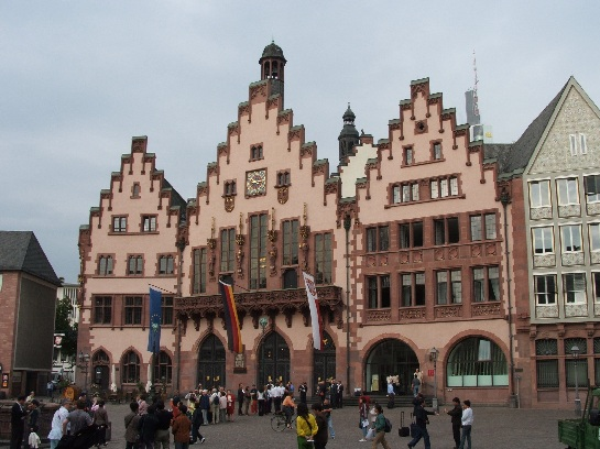 The main square in Frankfurt, Germany