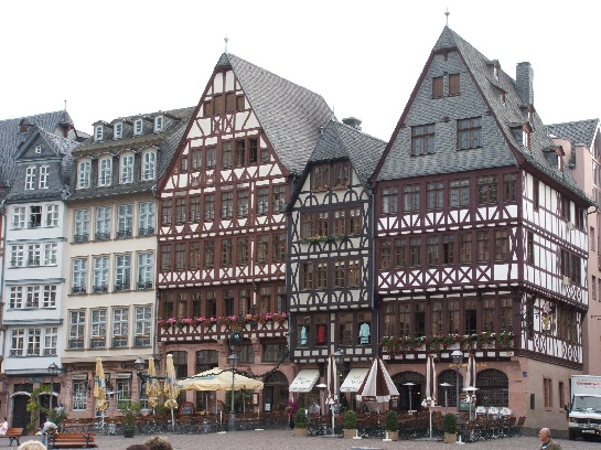 The main square in Frankfurt, Germany
