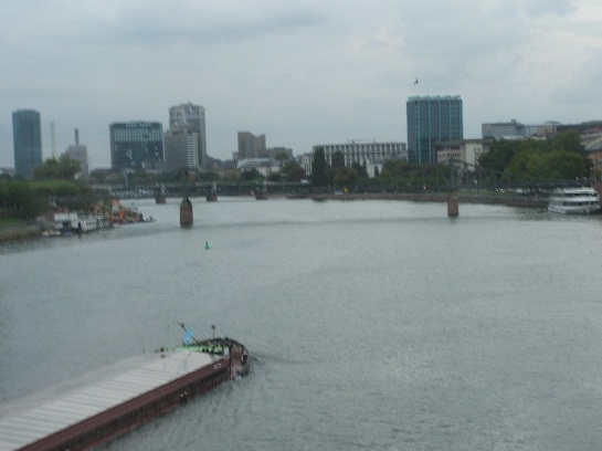 River barge in Frankfurt, Germany
