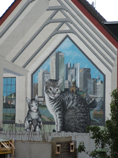 Mural of cats in Frankfurt, Germany