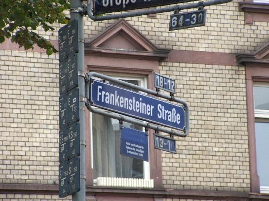Frankensteiner Strase in Frankfurt, Germany