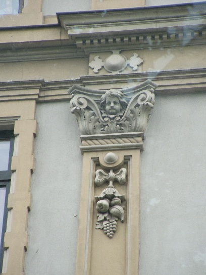 Building adornments in Frankfurt, Germany