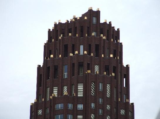 Red Sandstone building top in Frankfurt, Germany