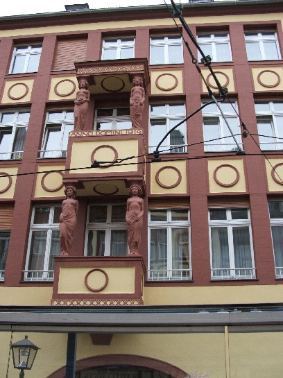 Red Sandstone building  in Frankfurt, Germany