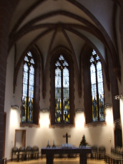 Inside the church in the main square in Frankfurt, Germany