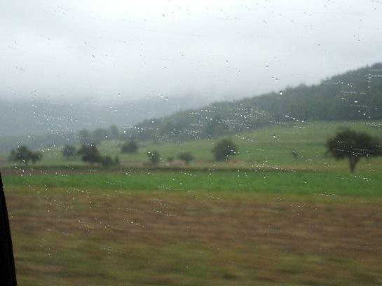 Speeding into the heart of Germany towards Rothenburg, Germany