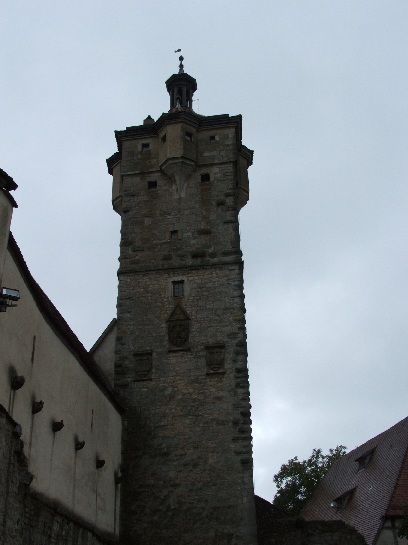 Old tower in Rothenburg, Germany