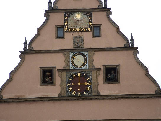 Town Clock in Rothenburg, Germany