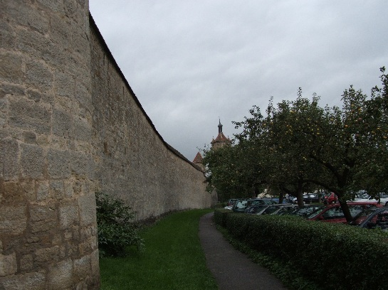 Outer walls of Rothenburg, Germany