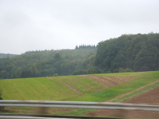Speeding into the heart of Germany towards Frankfurt, Germany