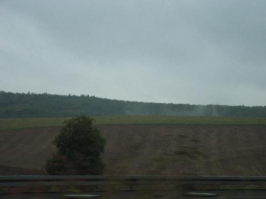Speeding into the heart of Germany towards Frankfurt, Germany
