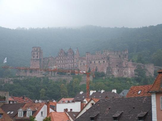 The red sandstone Heidelberg Castle, Heidelberg, Germany