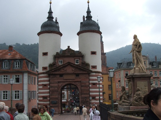 The bridge in Heidelberg, Germany