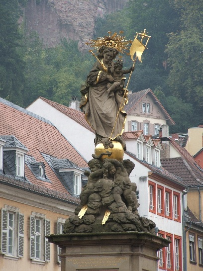 Statue in Heidelberg, Germany