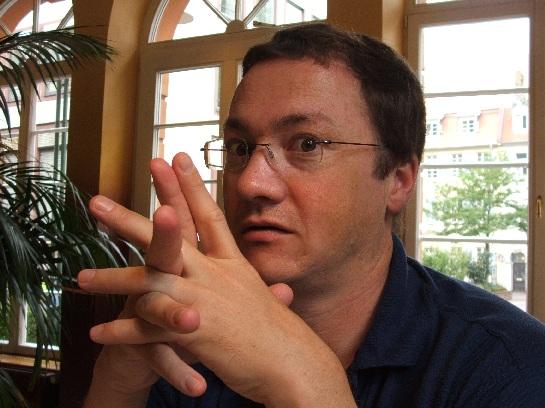 A surprised Ross in Heidelberg, Germany