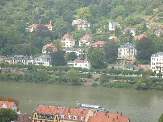View from Heidelberg Castle over Heidelberg, Germany
