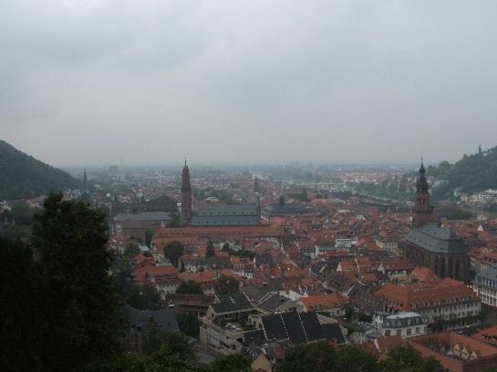 View from Heidelberg Castle over Heidelberg, Germany