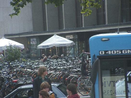 The bike racks in Frankfurt, Germany