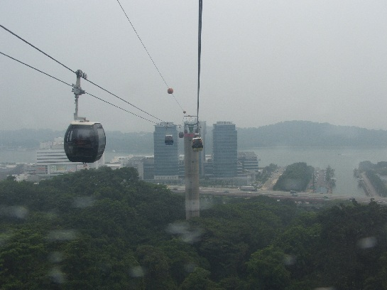 Cable cars going to Sentosa Island, Singapore