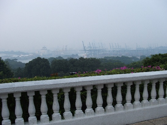 Singapore skyline wrapped in smog from the fires in Indonesia