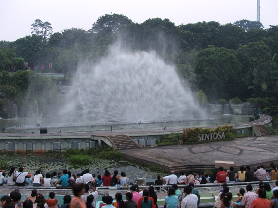 Fountains on Sentosa Island, Singapore