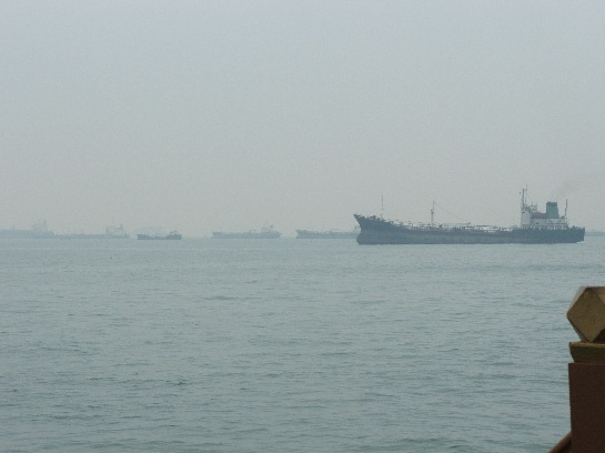 The busy Singapore harbour, Singapore