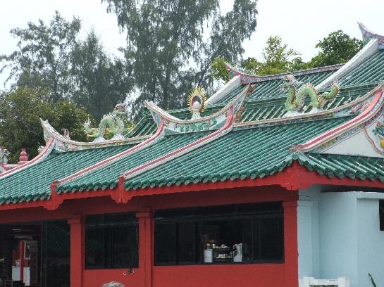Chinese Temple on Kusu (Tortoise Island) Island Singapore Harbour, Singapore